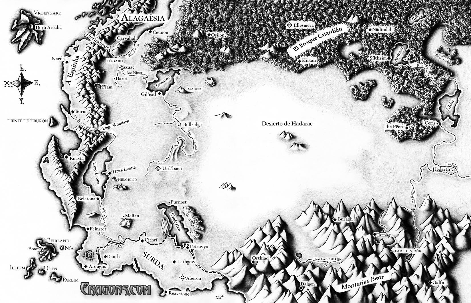Karte Alagasia